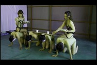 【M男】桜田さくら&立木ゆりあのM男イジメ☆素人M男品定め!テーブルや椅子にして弁当を食べる☆☆